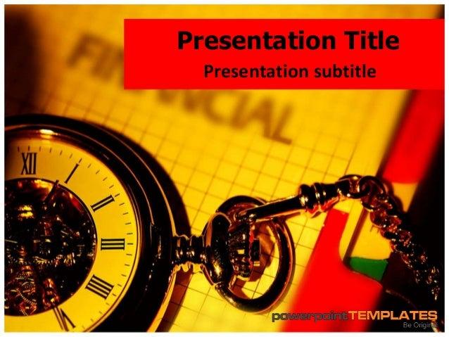 Finance PowerPoint Presentation