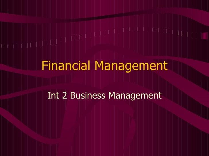 Finance Int 2