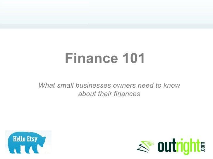 Finance 101 - Outright.com