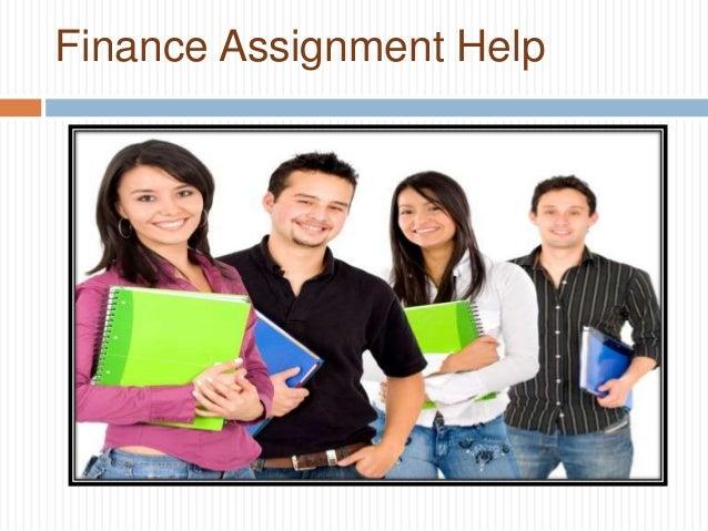 Finance Assignment Help Online