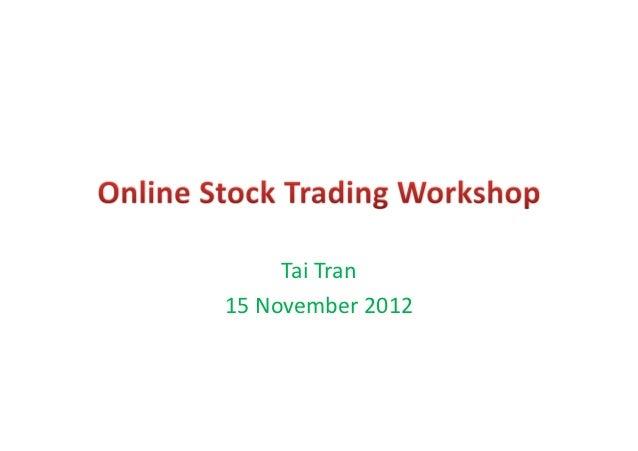 RMIT Vietnam Finance Club - Online Stock Trading Workshop