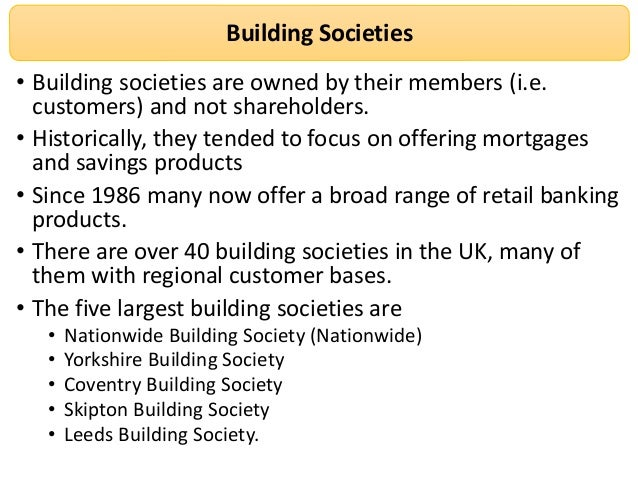 Building Society Vs Banks