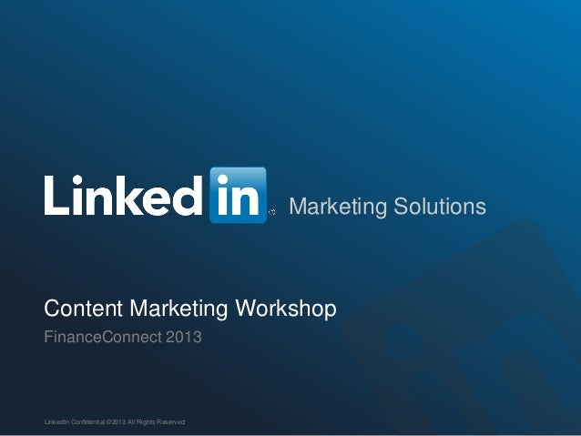 Content Marketing Workshop - FinanceConnect:13