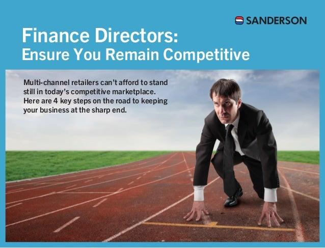 Finance Directors - Ensure You Remain Competitive