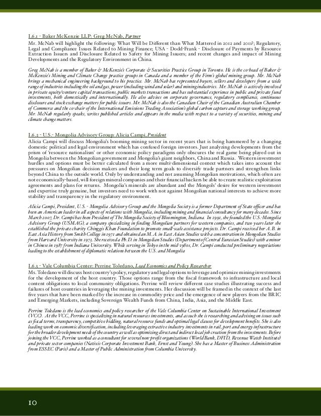 SME Current Trends in Mining Finance Program April 29, 30, 2013 in Ne�
