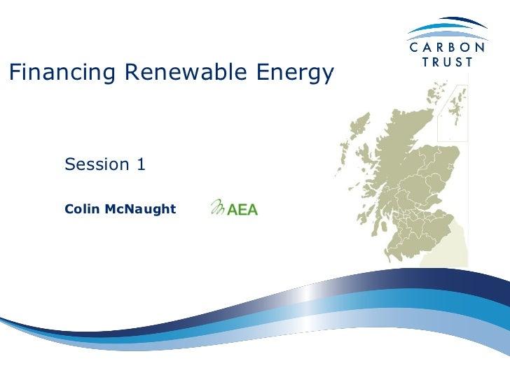 Finance for renewable energy