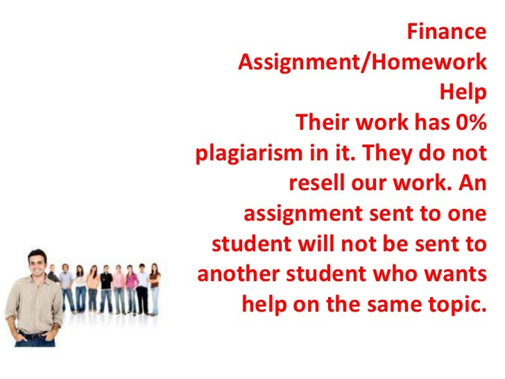 Finance do assignment for you