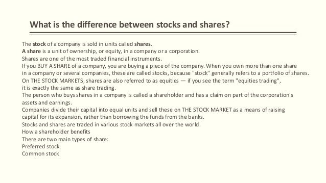 Difference between buying stocks and options