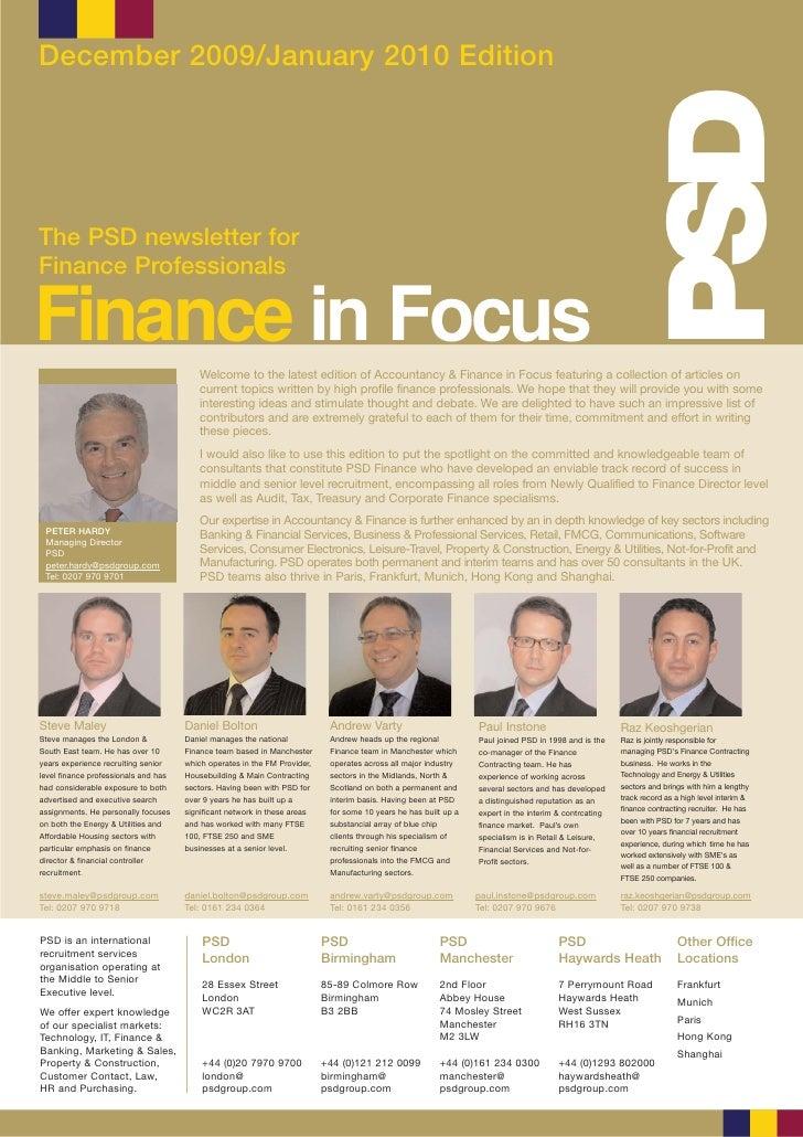 Finance In Focus