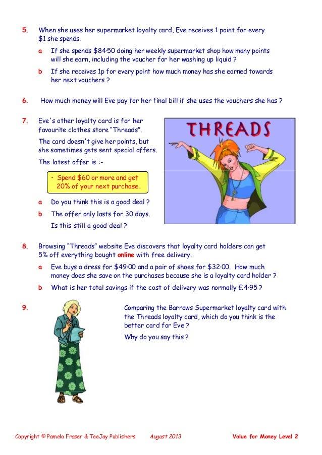 math worksheet : teejay maths lifeskills  value for money level 2 : Teejay Maths Worksheets