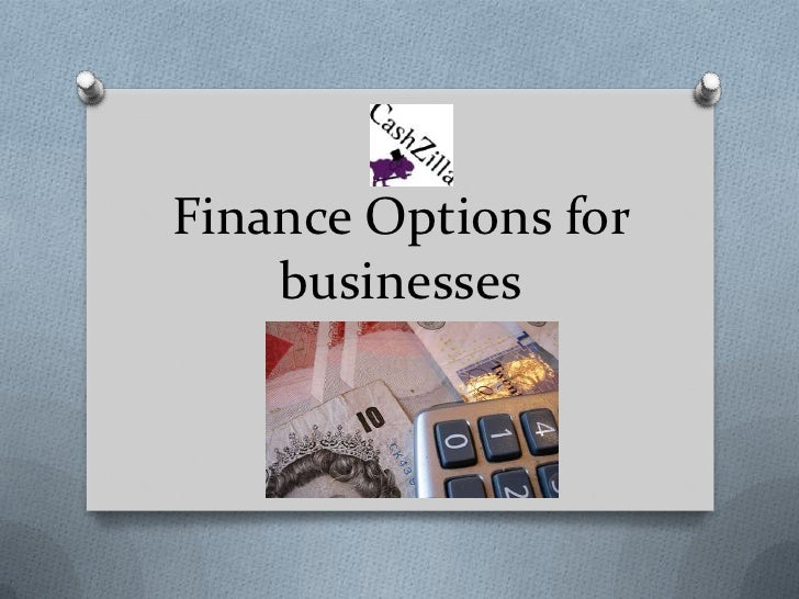 Finance options for businesses