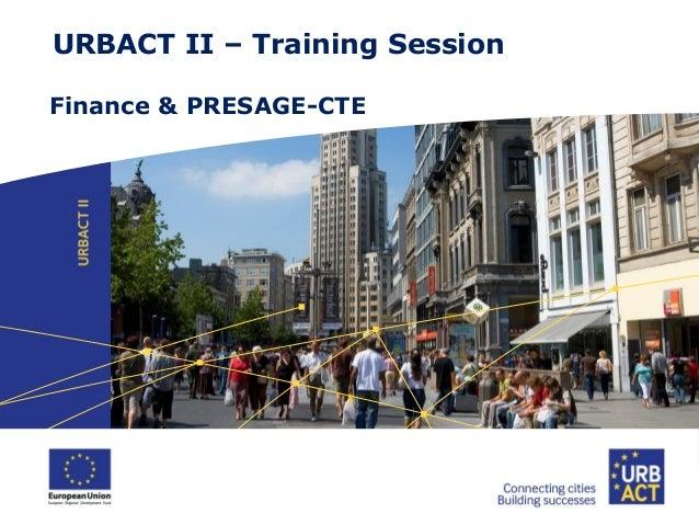 Finance & PRESAGE Presentation