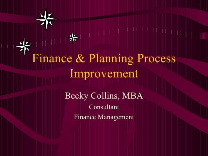 Finance Process Improvement