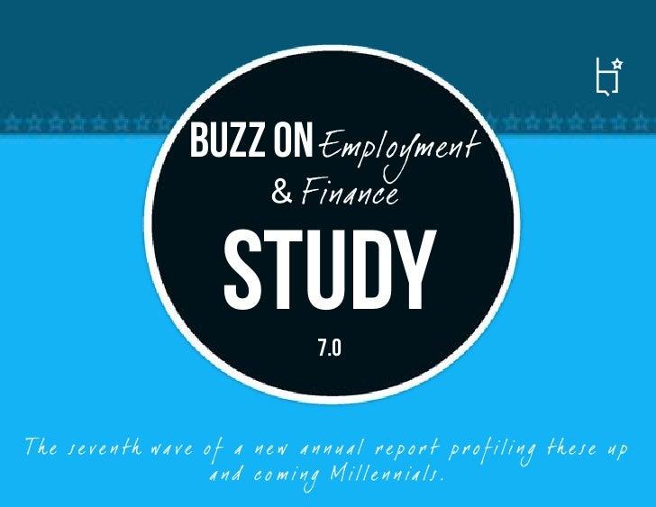 Millennials 7.0: Employment and Finance