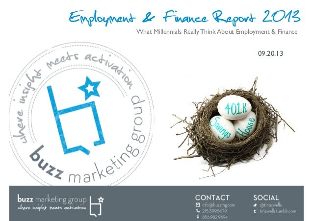 Finance and Employment Report 2013