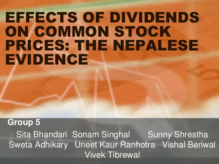 effects of dividend policy The impact of dividend policy on shareholders' wealth: evidence on malaysia's listed food producer sector agnes ong shi kai lim ai shyuan.