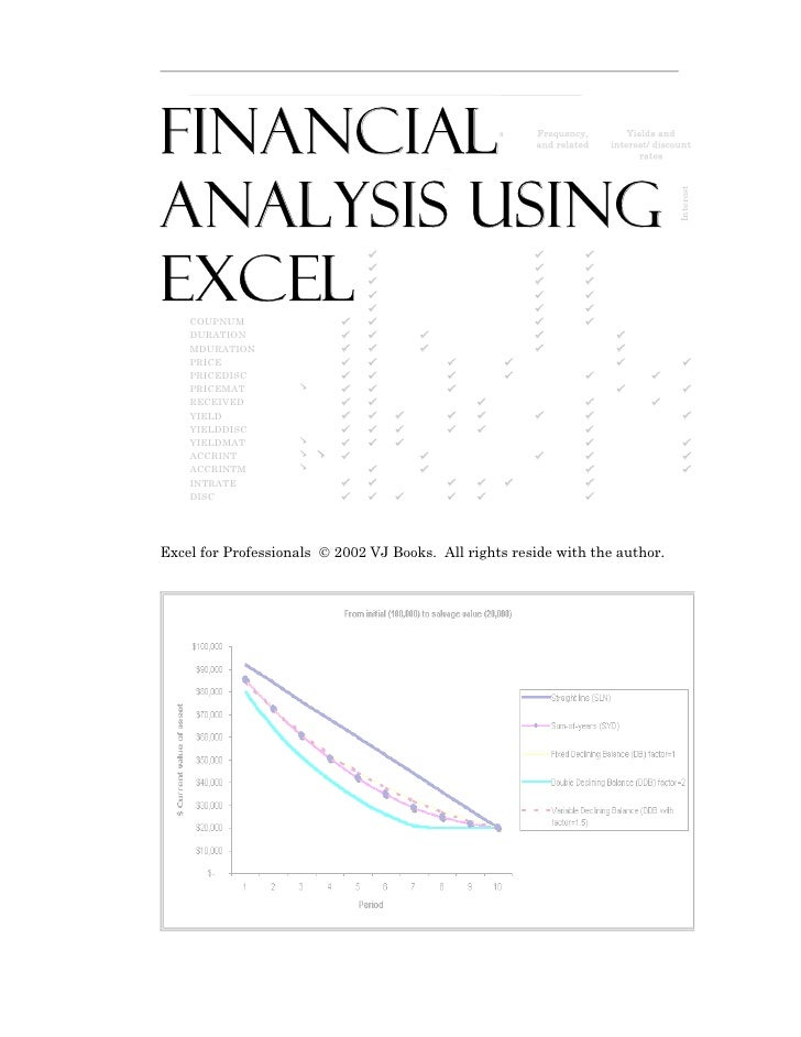 Finance using excel