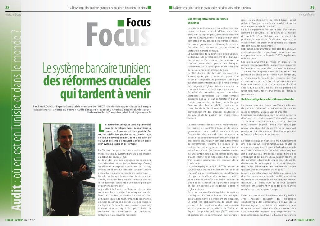 28                                                La Newsletter électronique gratuite des décideurs financiers tunisiens  ...