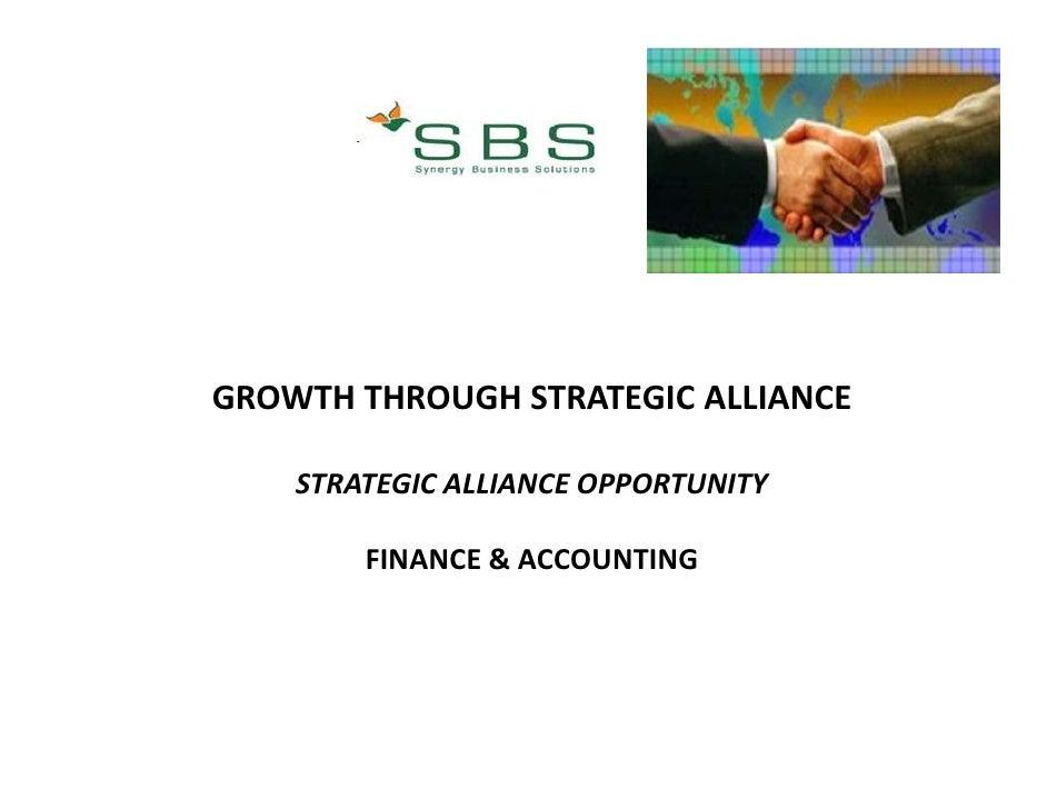 GROWTH THROUGH STRATEGIC ALLIANCE      STRATEGIC ALLIANCE OPPORTUNITY          FINANCE & ACCOUNTING