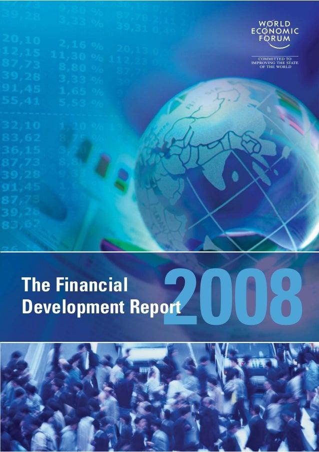 2008The Financial Development Report