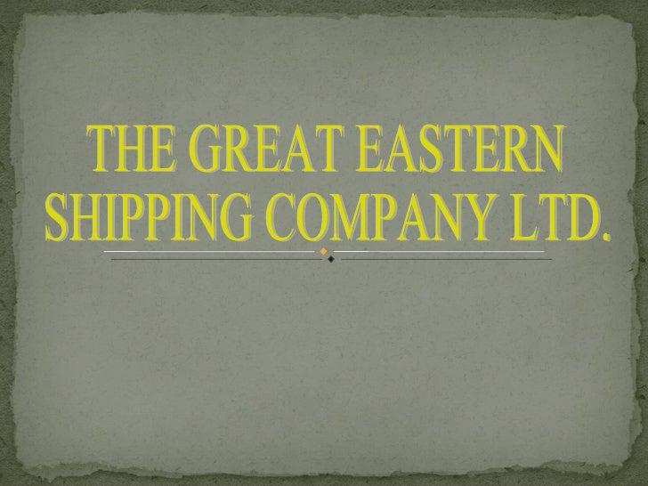 financial management of great eastern shipping co.