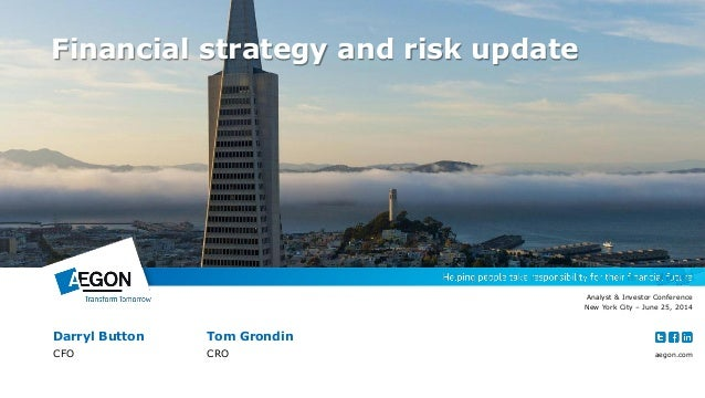 Financial strategy and risk update