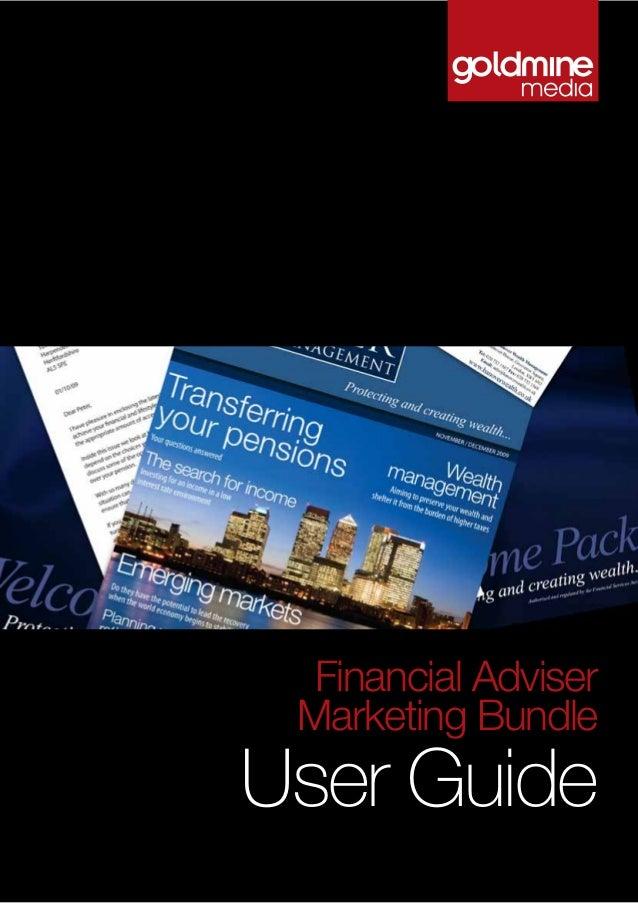 User Guide Financial Adviser Marketing Bundle