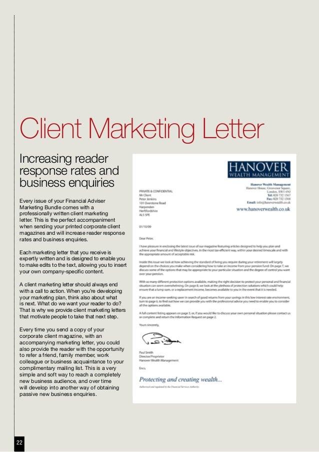 Business Letter To Prospective Customer