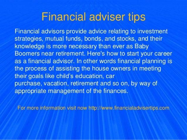 Financial adviser tips
