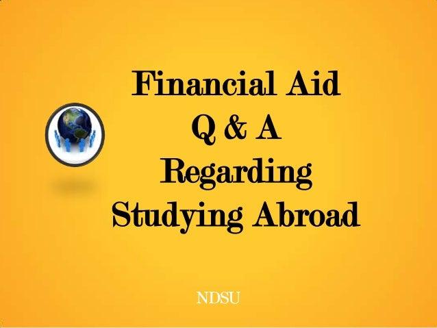 Financial Aid Q&A Regarding Studying Abroad