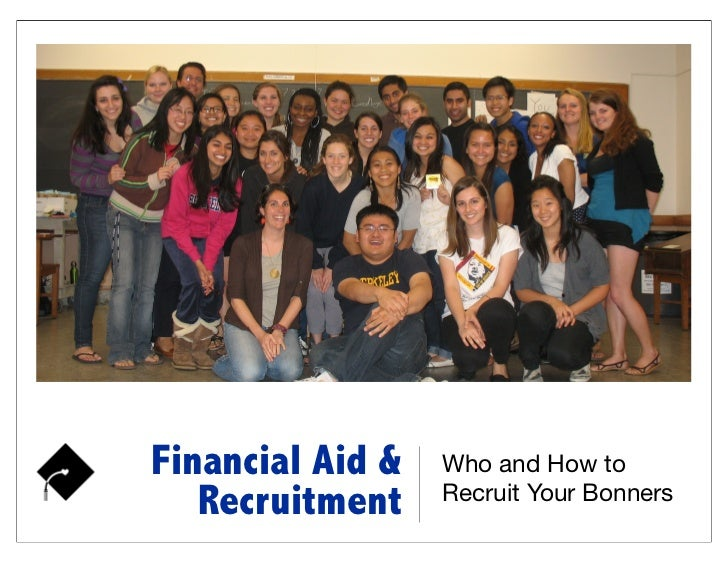 Financial aid and recruitment 8 1-12