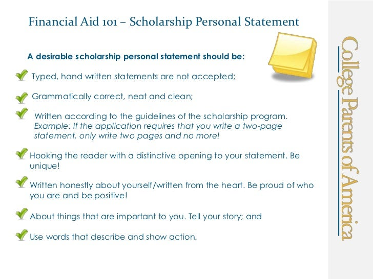 best personal statements for scholarships Its best when performed by a professional example scholarship essay/personal statement (accounting student) personal scholarship or personal statement personal scholarships are to be written for your admission applications and also for.