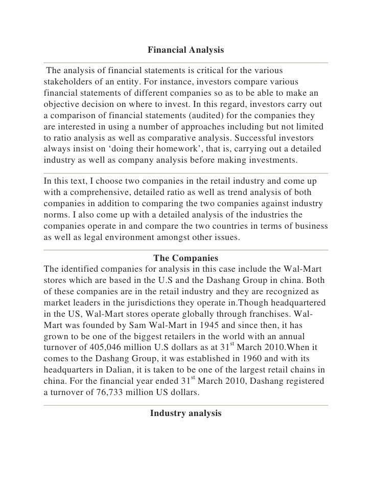 Accountancy - Financial analysis