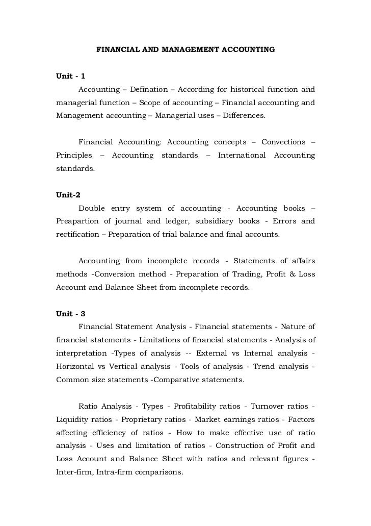 FINANCIAL AND MANAGEMENT ACCOUNTINGUnit - 1      Accounting – Defination – According for historical function andmanagerial...