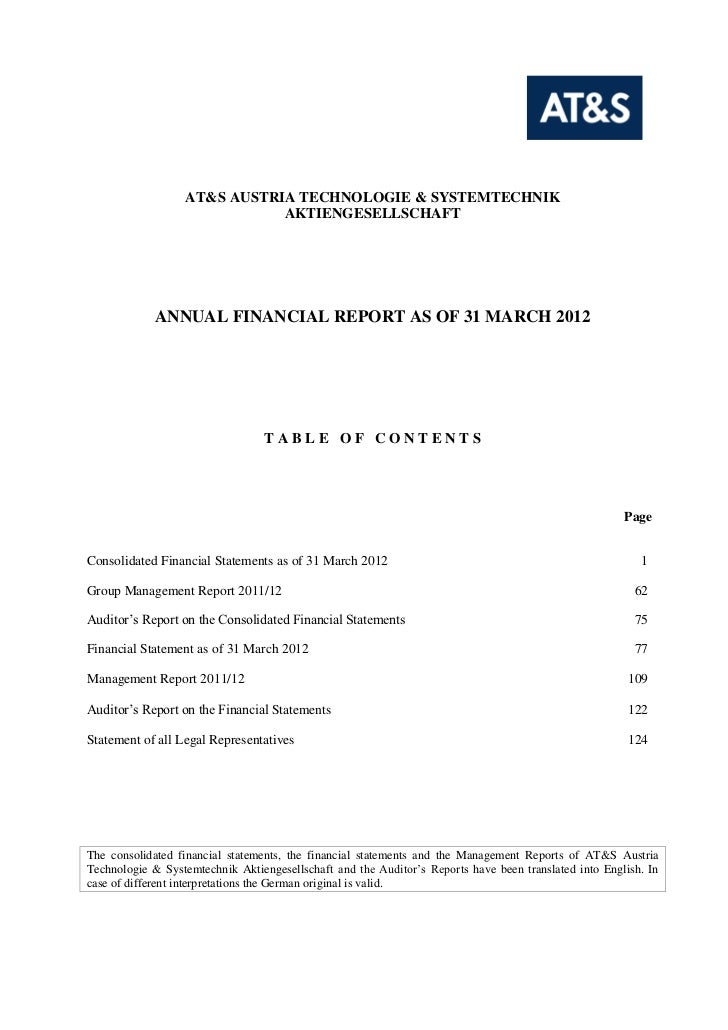Annual Financial Report 2011/12