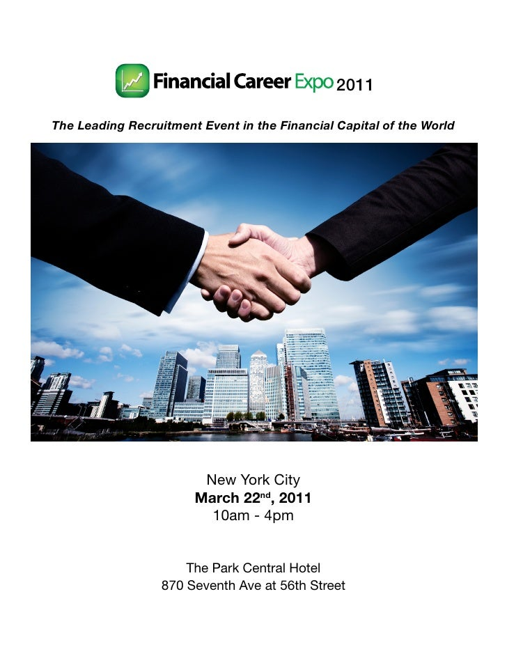 2011The Leading Recruitment Event in the Financial Capital of the World                        New York City              ...