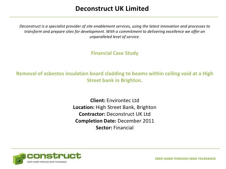 Deconstruct UK Limited Deconstruct is a specialist provider of site enablement services, using the latest innovation and p...