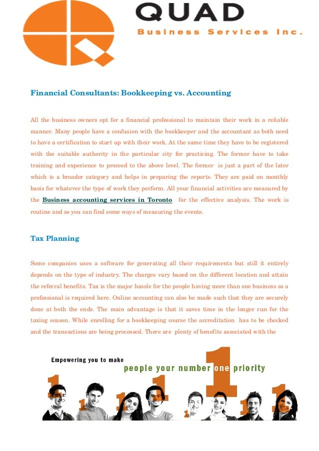accounting vs bookeeping Accounting vs finance at undergraduate level, it's possible to take a joint accounting and finance degree, in order to gain a more general knowledge of both accounting and finance professions.