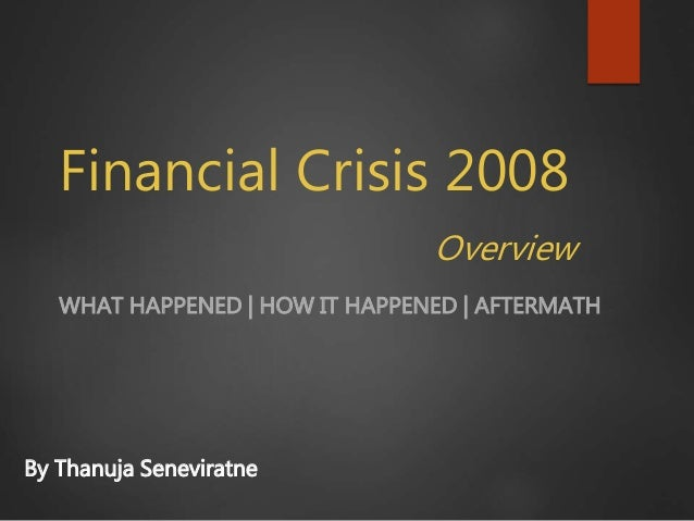 Financial crisis thesis