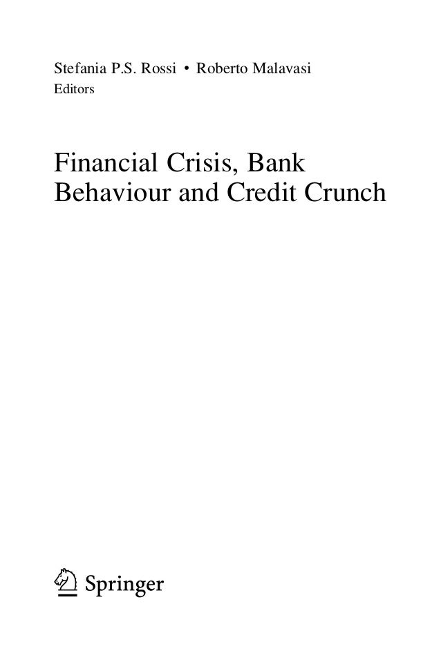 Effects of the credit crunch?