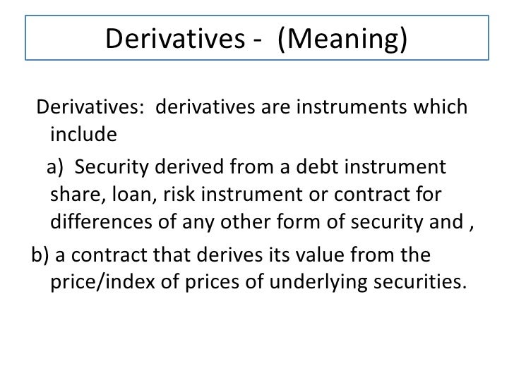 Forex derivatives ppt