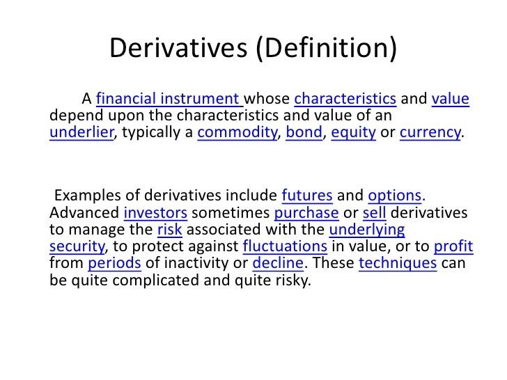Accounting For Derivative Instruments And