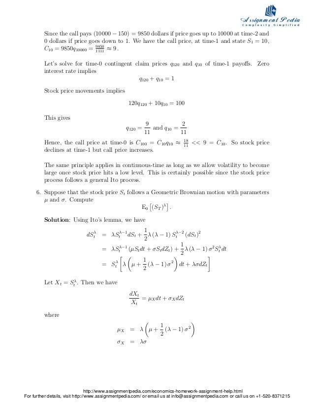 Homework help economics