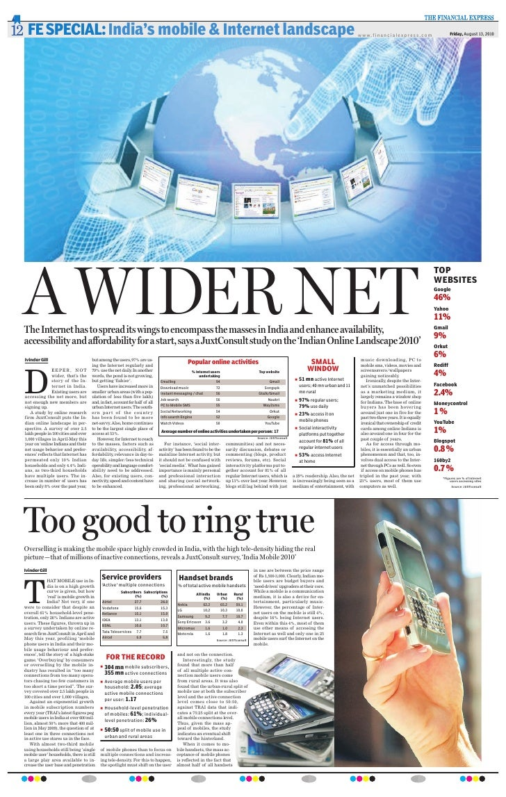Juxt India Online & India Mobile - Financial Express Coverage