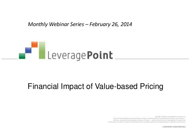 Financial impact of value based pricing v4