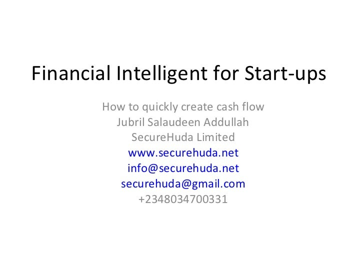 Financial intelligent for start ups