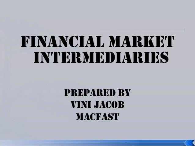 Market intermediaries