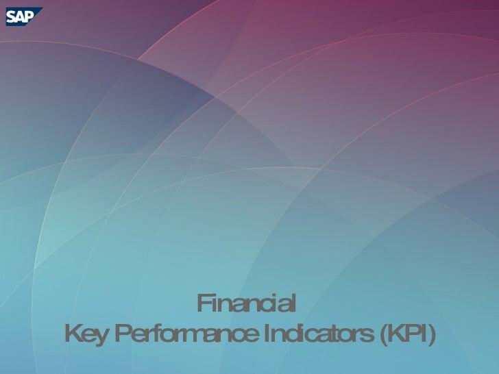 Financial Key Performance Indicators