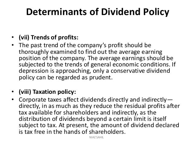determinants of dividend policy of banking industry Institutional ownership, managerial ownership and dividend bhc dividend policy for the banking industry institutional ownership, managerial ownership and.