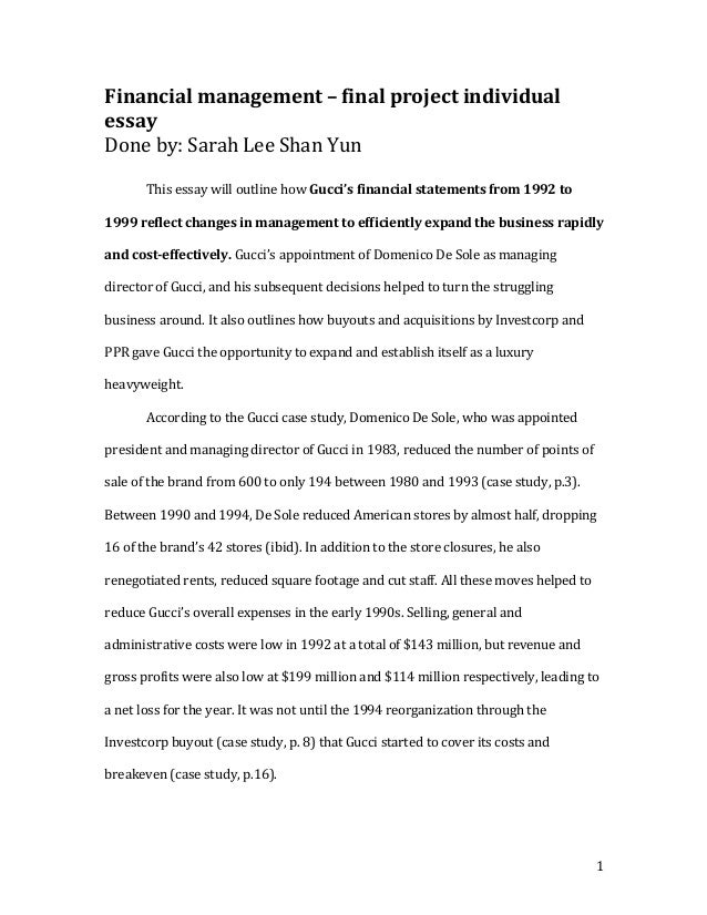 Project management reflective essay definition
